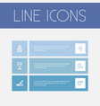 set of 6 editable cook outline icons includes vector image vector image