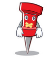 silent red pin character cartoon vector image vector image