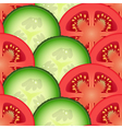 Sliced tomato and cucumber vegetables vector image