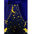 starry night curtains vector image vector image