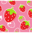 strawberry fruit pattern vector image vector image