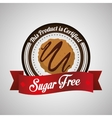Sugar free design candy concept sweet icon vector image vector image