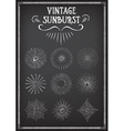 Sunburst ray design Chalkboard doodle drawing vector image