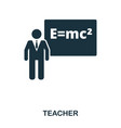 teacher icon line style icon design ui vector image
