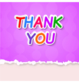 Thank plate on a purple background vector image vector image