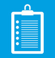to do list icon white vector image vector image