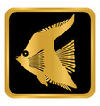 tropic fish button vector image vector image
