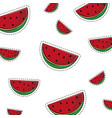 watermelons background cartoons vector image vector image