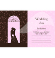 Wedding card - Bride and Groom silhouette