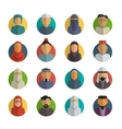 Middle eastern people flat icons set Muslim male vector image