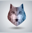 abstract polygonal tirangle animal wolf hipster vector image vector image
