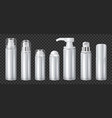 aluminium spray cans set transparent vector image vector image