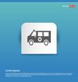 ambulance icon - blue sticker button vector image vector image