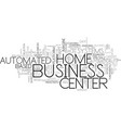automated business center systems text background vector image vector image