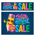 back to school sale banners set vector image vector image