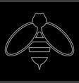 bee the white path icon vector image