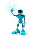 Blue Robot vector image vector image