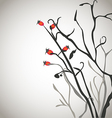 Brier bush with berries vector image