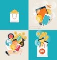 Business concept Online shopping Infographics vector image