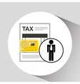 business man taxes credit card icon design vector image