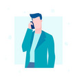 businessman speaking on the phone - flat design vector image