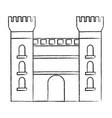 castle building icon image vector image vector image