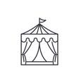circus line icon concept circus linear vector image