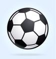 classic soccer ball football vector image vector image