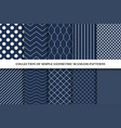 collection of classic seamless simple patterns vector image