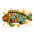 colorful fish with pop art style vector image