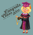 congrats class of 2019 flat colorful poster vector image vector image
