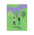 couple walking in park vector image vector image