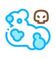 dead skull smoke icon outline vector image