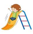doodle boy playing slide vector image