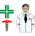 Dottore anziano vector image