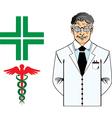 Dottore anziano vector image vector image