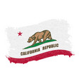 flag of california grunge abstract brush stroke vector image