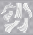 flying curtains white blank clothes transparent vector image vector image