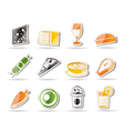 food and drink icons 2 vector image vector image