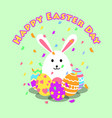 funny and colorful happy easter greeting card and vector image vector image