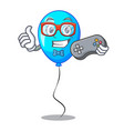 gamer party balloon blue mascot the isolated vector image