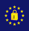 gdpr - general data protection regulation law of vector image