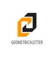 geometrical initial letter cj logo concept design vector image