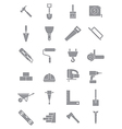 Gray construction icons set vector image