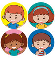 happy boys and girls with big smile vector image vector image