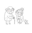 happy senior couple grandmother and grandfather vector image