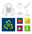 isolated object of and sign collection of vector image vector image