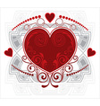 Love Heart Floral Design vector image vector image