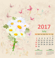 lovely bouquet of white daisies on grunge vector image vector image