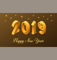 new year 2019 in isometric style vector image vector image